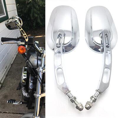 Chrome Motorcycle Side Mirrors Billet Stem For Harley Davidson FLHX Street Glide Harley Davidson Billet