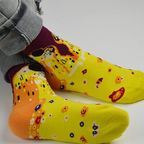 Fashion Mens Unisex Painting Art Funny Novelty Starry Night Vintage Retro Socks