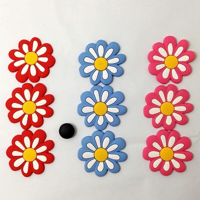 70d9f2891af66 9 pcs Colorful Flower Shoe Charms Fits Jibbitz Clog sandal Shoes ...