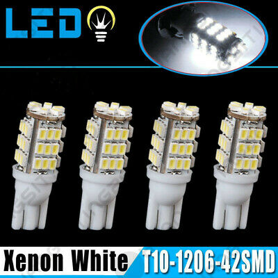 4 X T10 White Car 42-smd Backup Reverse LED Light Bulb 921 912 906 168 192 W5W