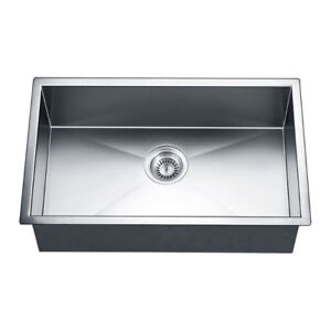 Kitchen Sink Stainless Steel Square Single Bowl New