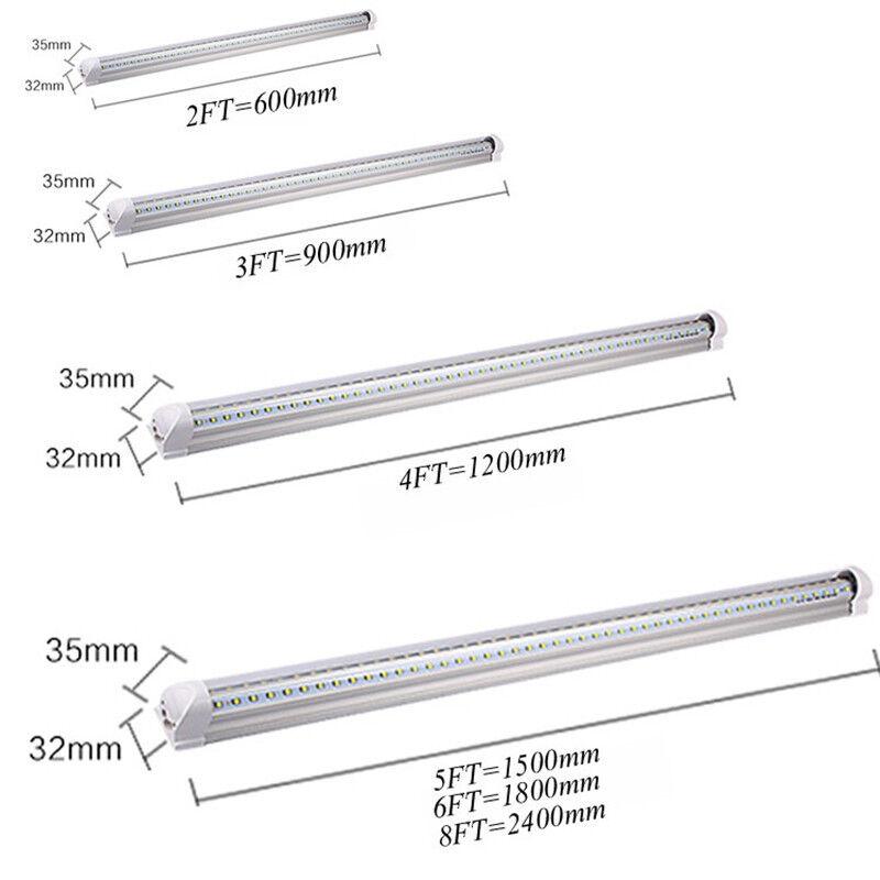 V-Shape T8 Integrated LED Tube Light 4ft 5ft 6ft 8ft