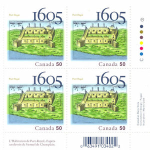 Canada Stamps - The Habitation at Port-Royal 1605-2005 50c (4)