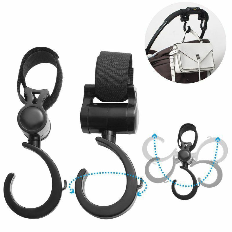 2 Pcs Set Universal Baby Stroller Shopping Bag Hanger Hook Hanging Carrying