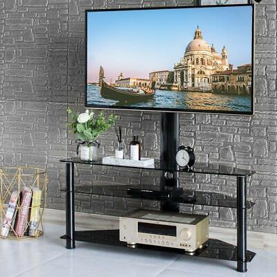 """Three Layers Shelf Floor TV Stand with Swivel Mount for 32"""" - 65"""" LED LCD Screen"""
