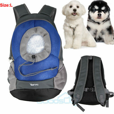 Puppy Dog Carrier Travel Front Back Backpack Pet Cat Carrying Pouch Bags Large
