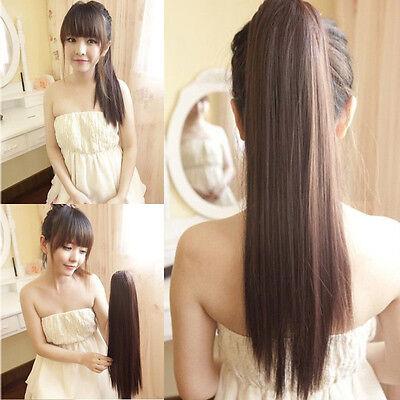 Haarteil Perücke Pferdeschwanz Haarverlängerung glatt Haarverdichtung Zopf PR001