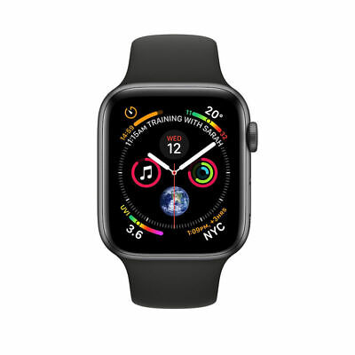 Apple Watch Series 4 44mm 16GB Space Grey - Aluminium Case - Black Sport Band UK