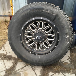 "8 lug Fast ""Menace""Mags  and Tires"