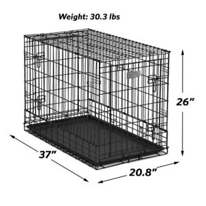 """NEW! 37"""" Fantastic! SUV DOG CRATE/KENNEL Double door"""