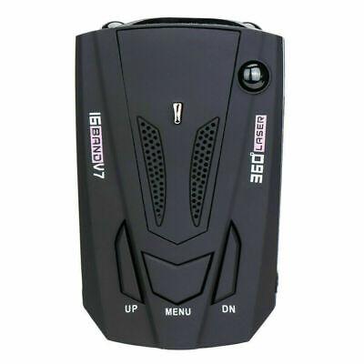 Radar del coche 16 banda V7 GPS Velocidad Detector de seguridad de la policía Alerta de voz Láser 360 grados