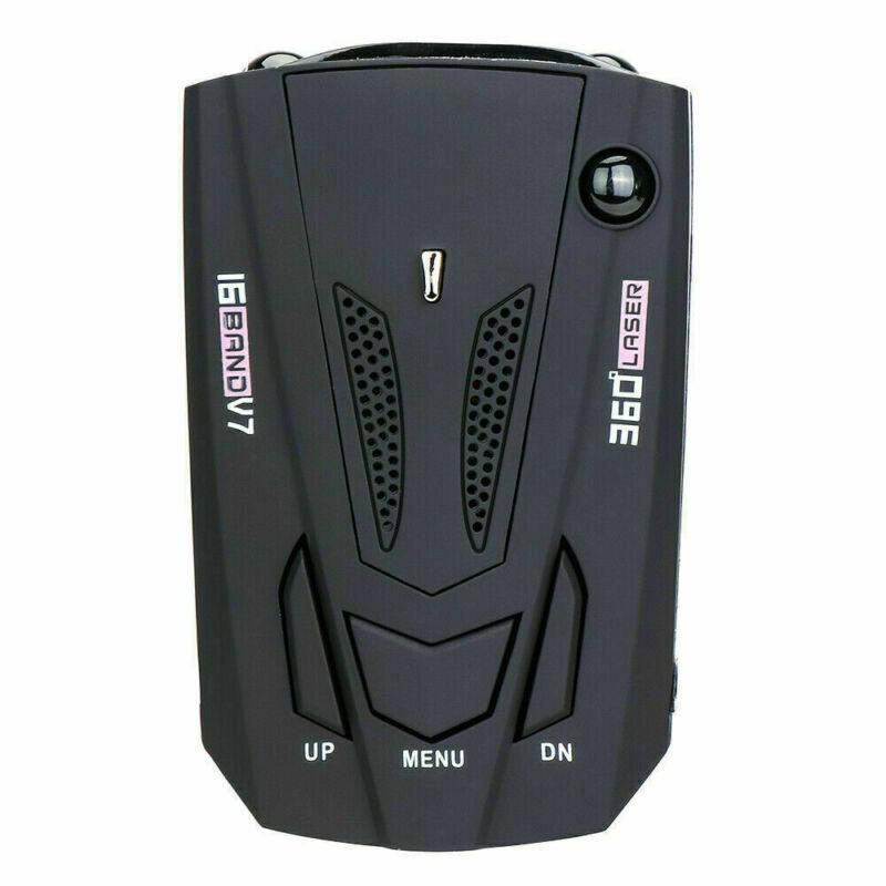 Car Radar 16 Band V7 Gps Speed Police Safe Detector Voice Alert Laser 360 Degree