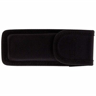 "5.25"" BLACK NYLON MOLDED Folding KNIFE SHEATH Pocket Pouch Holder Case Belt Loop"