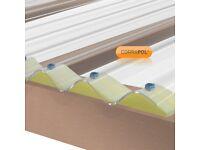 Corrapol Storm-proof Sheet, metal box sections, Self-Drilling Roof Screw/ Corrugated Sheet Foam