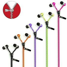 Zipper zip earphones new