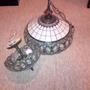 Matching Tiffany Like Ceiling Lamps