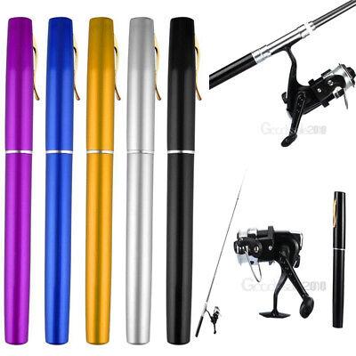 Mini Telescopic Portable Pocket Fish Pen Aluminum Alloy Fishing Rod Pole + - Mini Fishing Rod