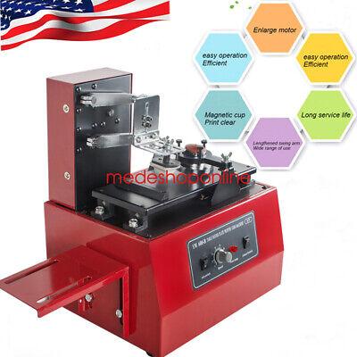 110v Electric Pad Printer Printing Machine T-shirt Mug Ballpen Durable Usa Sale