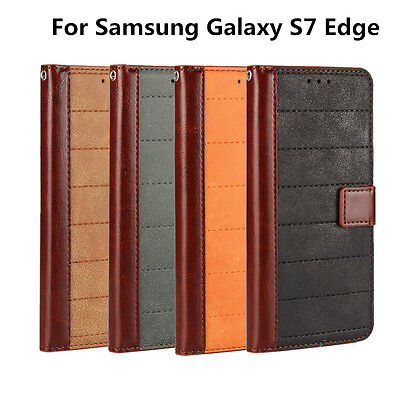 Best Used For Samsung Galaxy S7 Edge Scrub Splicing Leather Wallet Case