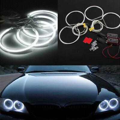 4pcs LED CCFL Angel Eyes Halo Rings Lights Xenon White Lamp For BMW E36 E39 E46