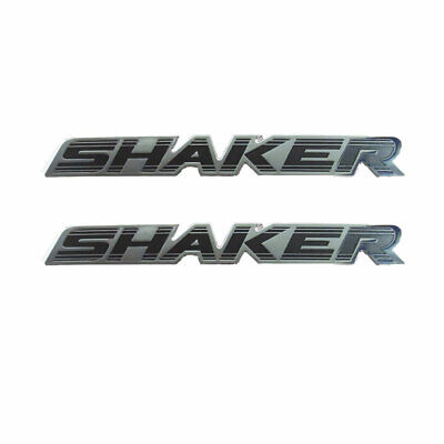 Mopar Set of 2 Black Chrome Shaker Hood 3D Emblem for Challenger Charger