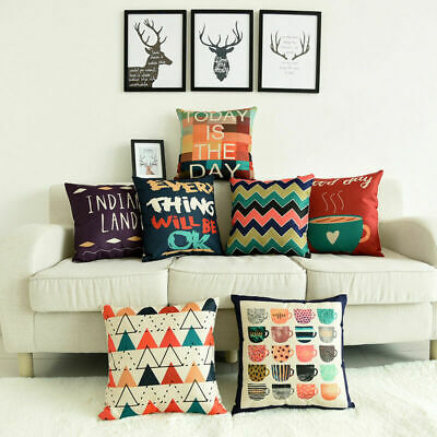Coffee Cup Cotton Linen Pillow Case Sofa Waist Throw Cushion Cover Home - Java Linen Pillow