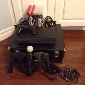 PlayStation 3 500GB + 8 Games + Remote + PS Move
