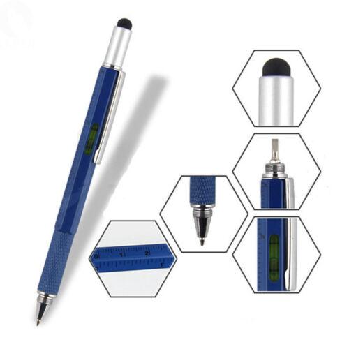 1pc Multi Purpose Pen Ballpoint Screwdriver Ruler Spirit Mod