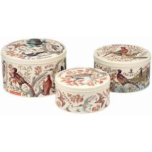 Emma Bridgewater Game Birds Set of 3 Round Cake Tins