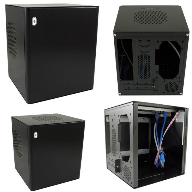 Computer PC MINI-ITX Gehäuse Cube LC-1500Bmi ohne Netzteil USB3 Schwarz LC-Power