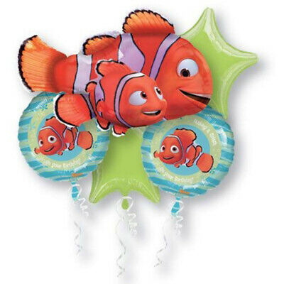 FINDING NEMO Foil Bouquet Balloons Kids Birthday Party Dory Disney Pixar