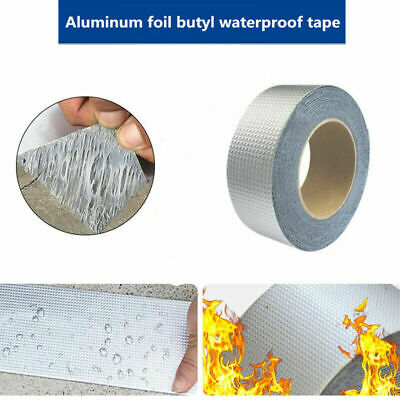 1roll Repair Duct Tape Butyl Seal Rubber Aluminum Foil Wall Super Waterproof