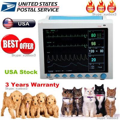 Veterinary Patient Monitor Multi-parameter Monitor Ecg Nibp Spo2 Resp Temp Pr