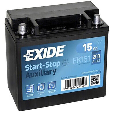 Exide EK151 Stützbatterie Start-Stopp Auxiliary 15Ah AGM 12V Autobatterie