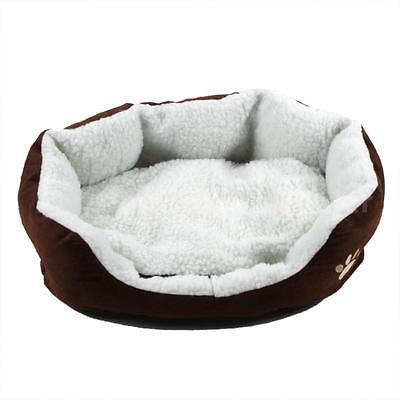 Pet Dog Nest Puppy Cat Soft Bed Fleece Warm House Kennel Plush Mat USA Sell J1P0