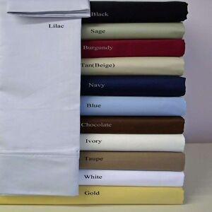 NEW-COLORS-6-pc-BEDDING-SHEET-SET-1200-TC-100-EGYPTIAN-COTTON-ALL-SIZE