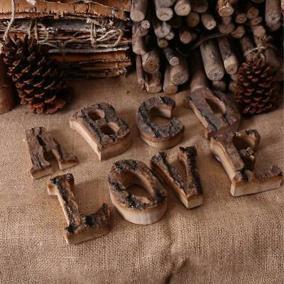 Rustic Thick Free Standing Wood Alphabet A-Z Letters & Number Symbol Wall Decor