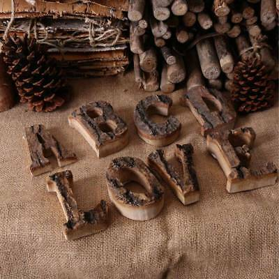 Rustic Thick Free Standing Wood Alphabet A-Z Letters & Number Symbol Wall -