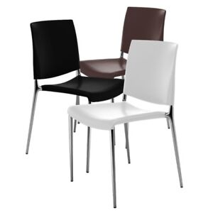 White IKEA Stacking Chairs