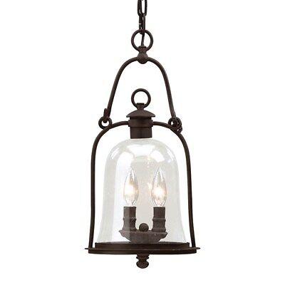 Owings Mill Natural Bronze 2 Light Outdoor Hanging Lantern Light Fixture ()