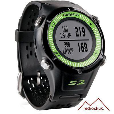 Garmin Approach S2 GPS Golf Watch Rangefinder - Black & Green
