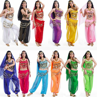 Belly Dance Costume Set Professional Dancer Bollywood Carnival Festival Outfit - Adult Belly Dancer Costume