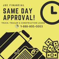 Truck, Trailer, Construction Financing Pre-Approved under 24HRS