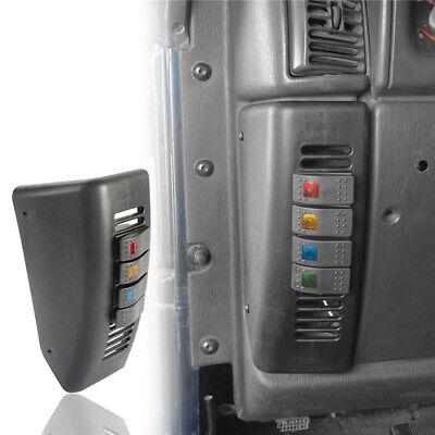 Left Hand A Pillar Lighting Switch Pod 4-Switch Panel for 97-06 Jeep Wrangler TJ Left Hand Panel