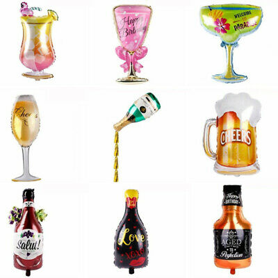 Champagne Cup Bottle Balloon Aluminium Foil Beer Birthday Bachelore Party - Birthday Beer