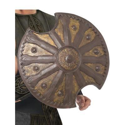 Smi - Karneval Kostüm Zubehör Achilles Schild Bronze antiker Krieger Larp - Krieger Schild Kostüm
