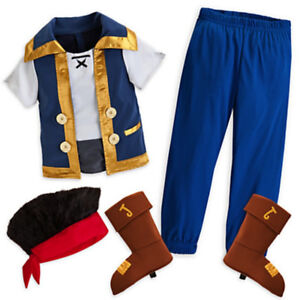 Disney Store Jake and The Neverland Pirates Costume  5T - 6T