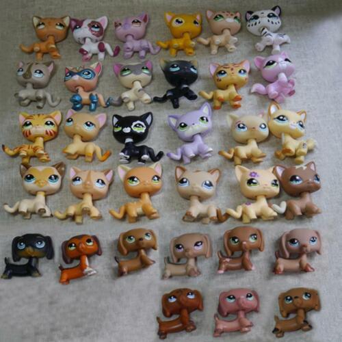 5pcs/Lot LPS Toy random choose  pet shop cat dachshund dog