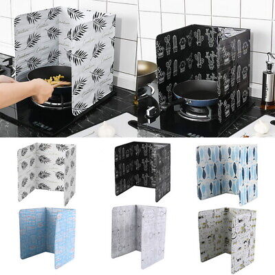Home Kitchen Cook Frying Oil Splash Guard Baffle Gas Stove R