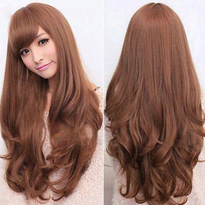 Lange, Brünette Perücken (NEU - Super schöne Perücke - Lange brünette / hell braune Haare)